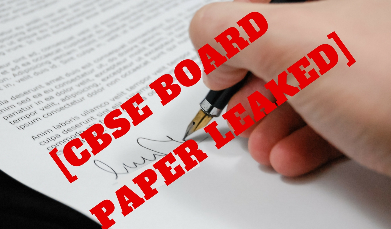 CBSE Class 12 Accountancy Paper Leaked