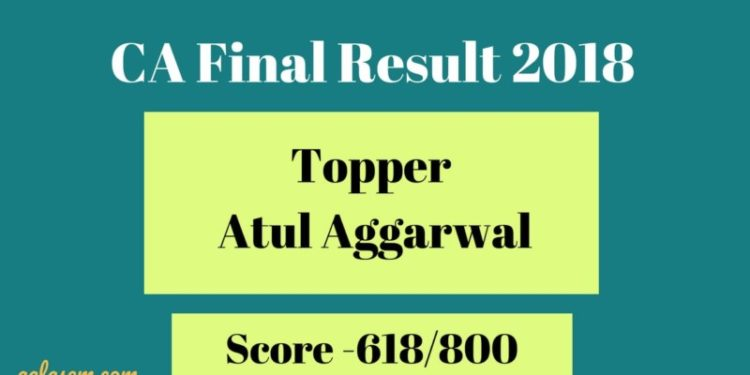 CA Final Year Tooper Atul Agarwal.