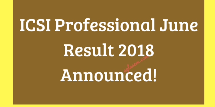 ICSI Professional June Result