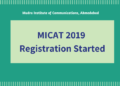 MICAT 2019 Registration
