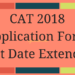 CAT 2018 Application Form