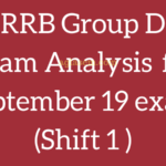 RRB Group D Exam Analysis