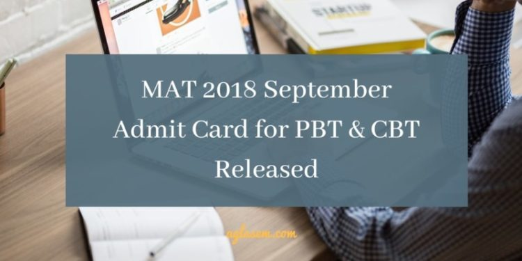 MAT 2018 September Admit Card Released