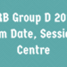 RRB Group D Exam Date, Session, & Centre