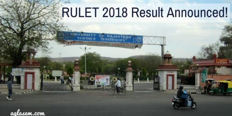 RULET 2018 Result Announced
