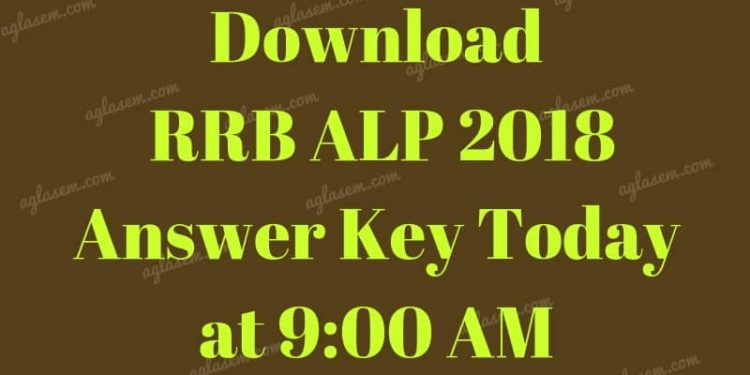 Download RRB ALO Answer Key 2018