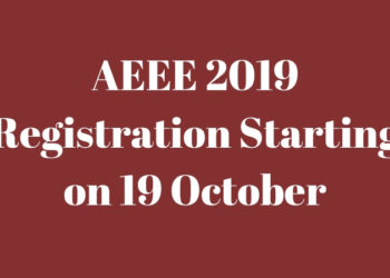 AEEE 2019 Registration Starting on 19 October