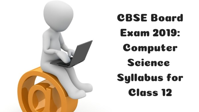 CBSE Computer Science Syllabus for Class 12