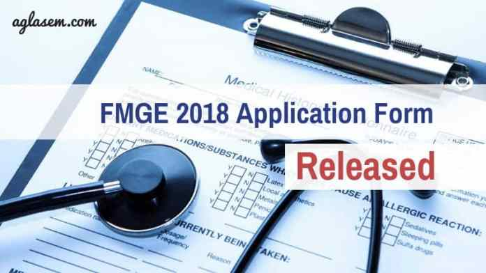 FMGE 2018 Application Form