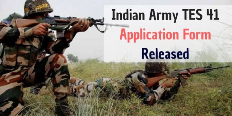 Indian Army TES 41 Application Form