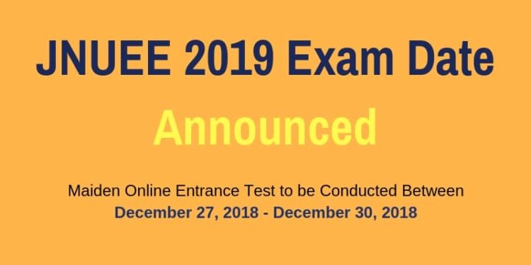ATTACHMENT DETAILS JNUEE-2019-Exam-Date-Announced-min.jpg October 24, 2018 21 KB 800 × 450 Edit Image URL https://news.aglasem.com/wp-content/uploads/2018/10/JNUEE-2019-Exam-Date-Announced-min.jpg Title JNUEE 2019 Exam Date Announced