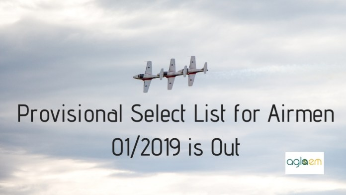 Provisional Select List for Airmen 012019