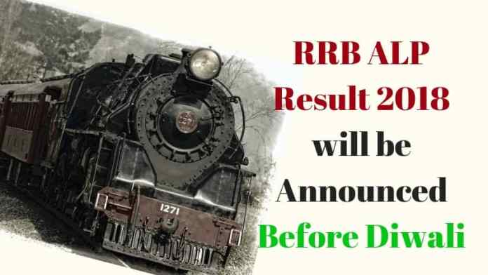 RRB ALP Result 2018 Before Diwali