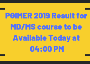 PGIMER 2019 Result MD/MS course