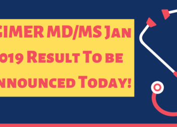 PGIMER MD MS 2019 Result