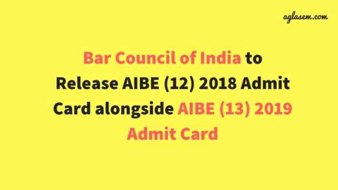 AIBE (12) Admit Card 2018 Available from December 19