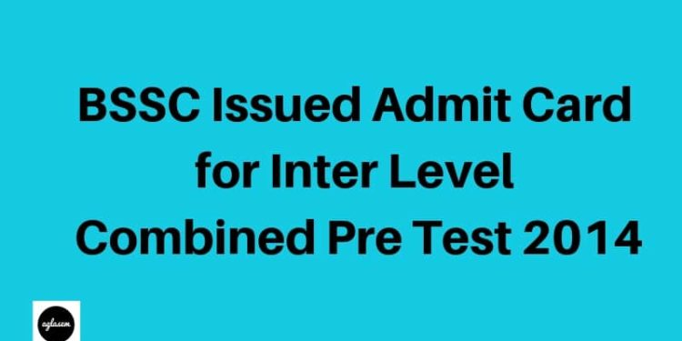 ihar Staff Selection Commission Issued Admit Card for Inter Level Combined Preliminary Test 2014