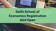 Delhi School of Economics Registration 2019 Open