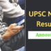 UPSC NDA 2 Result 2018 Announced