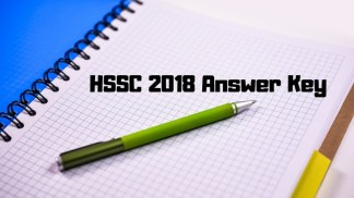 HSSC 2018 Answer Key