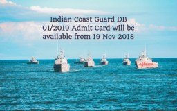 Indian Coast Guard DB 01 2019 Admit Card