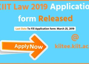 KIIT Law Entrance Exam 2019 Application form