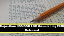 Rajasthan RSMSSB LDC Answer Key 2018 Released