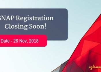 SNAP Registration Closing on 26 November
