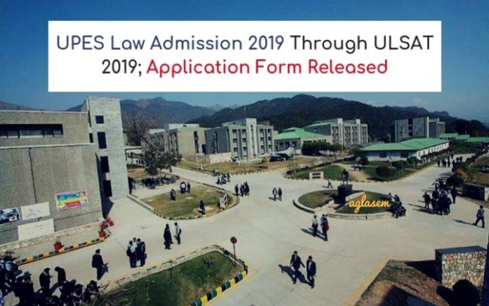 UPES Law Admission 2019 ULSAT