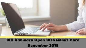 WB Rabindra Open 10th Admit Card December 2018-min