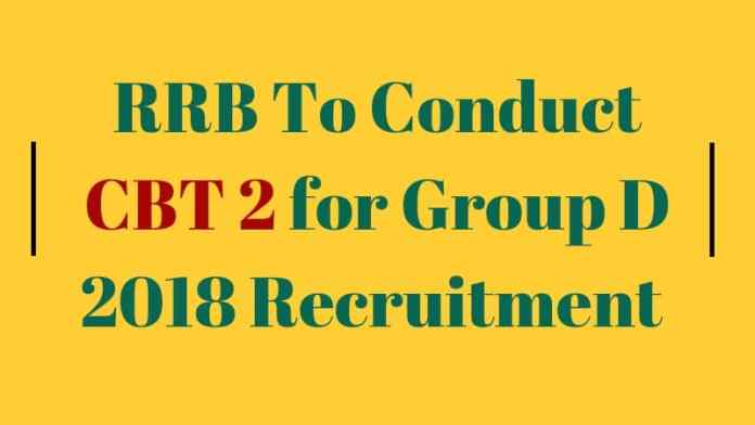 RRB Group D CBT 2 2018