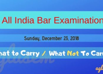 AIBE 2019 What to Carry, What not to Carry