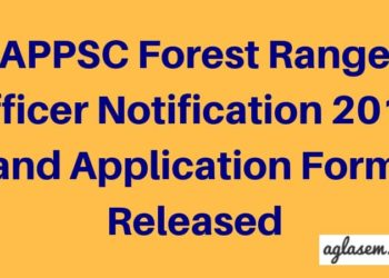 APPSC-Forest-Range-Officer-Notification-2018 -and-Application-Form-Released