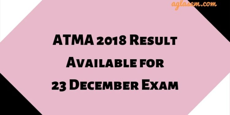 ATMA 2018 Result for 23 December Exam