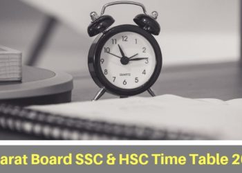 GSEB SSC & HSC Time Table 2019