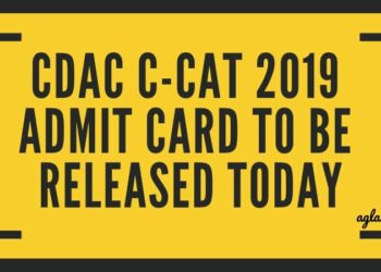 CDAC C-CAT 2019 Admit Card Aglasem