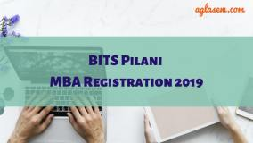 BITS Pilani MBA 2019 Registration
