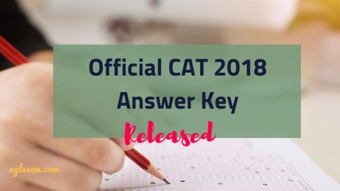 CAT 2018 Answer Key Released by IIM Calcutta