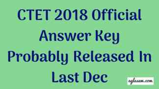 CTET-Answer-Key-2018-Aglasem