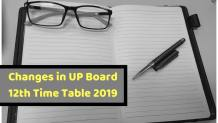 Changes in UP Board 12th Time Table 2019