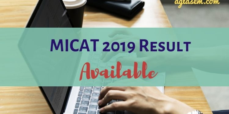 MICAT 2019 Result Available