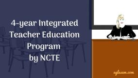 NCTE Proposes 4 year Integrated Teacher Education Program
