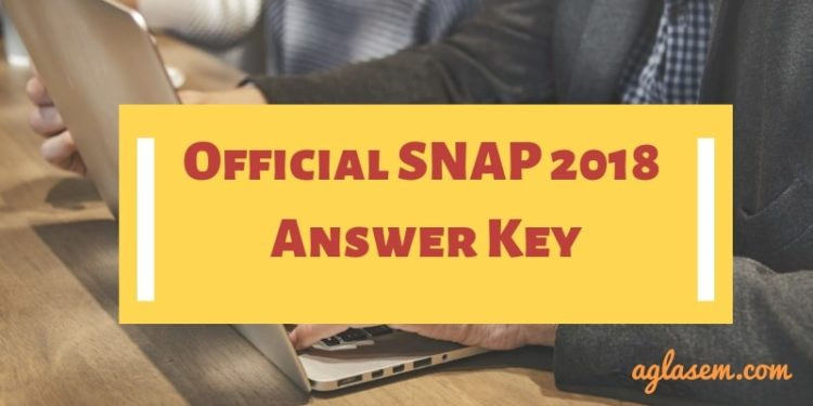 Official SNAP 2018 Answer Key