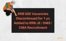 RRB SSE Vacancies Discontinued
