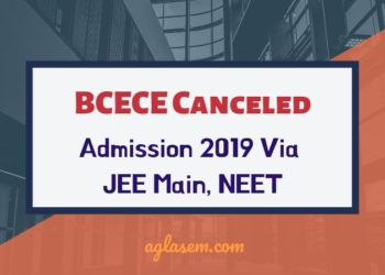 BCECE Canceled for Admission 2019