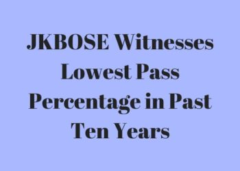 JKBOSE Witnesses Lowest Pass Percentage in Past Ten Years