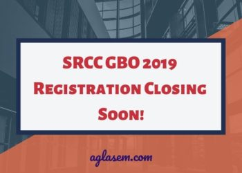 SRCC GBO 2019 Registration Closing on 25 Jan