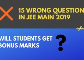Wrong questions in JEE Main 2019