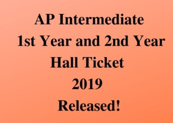 AP Intermediate Hall Ticket 2019 Released