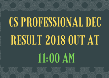 S PROFESSIONAL DEC RESULT 2018 OUT AT 11 AM